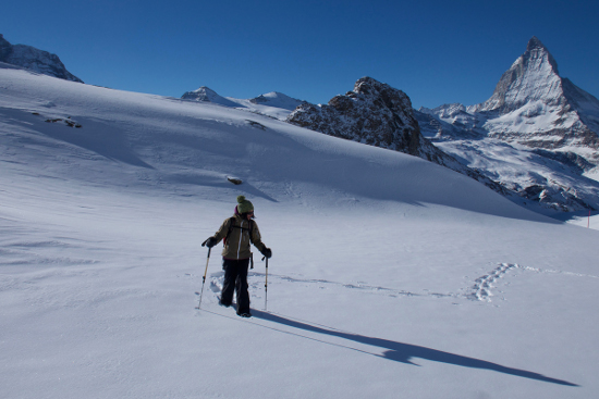 Snowshoeing with stefan dürst